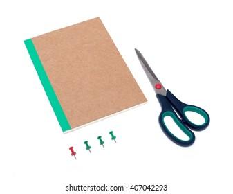 Set of stationery items