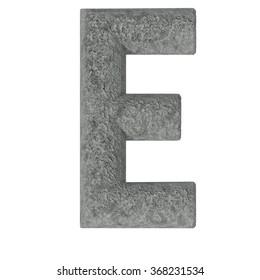 Set of stone fonts isolated on white background