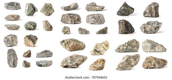 Set Stones isolated on white background
