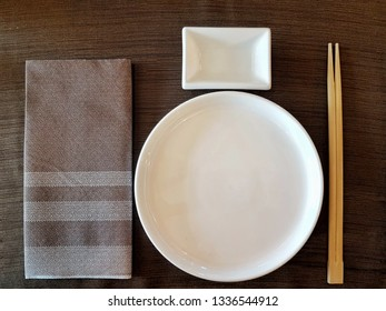 set table of an oriental fusion restaurant