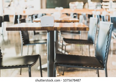 Set of tables in a bar restaurant. Concept of horeca, restaurant business, dining, and entertainment