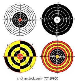 Set targets for practical pistol shooting, exercise.  illustration