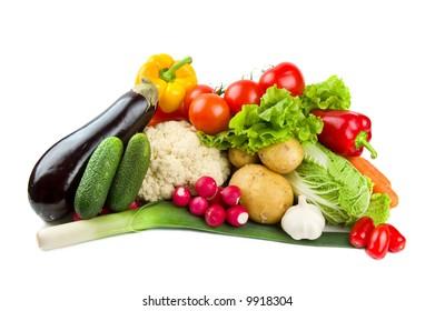 Set of tasty vegetables