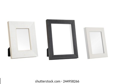 A set of three desk photo frames