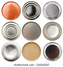Set of tin bottom cans