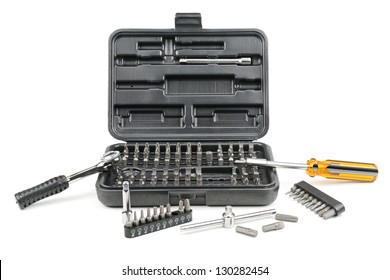 set tools isolated on a white background