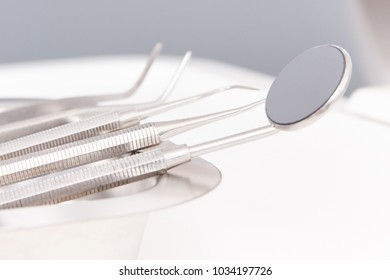 Set of tools for using by dentists in modern stomatology office