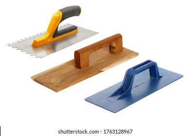 set of trowel isolated on white background, construction tool