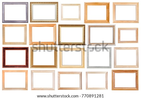Set Various Wide Wooden Picture Frames Stock Photo (Edit Now ...