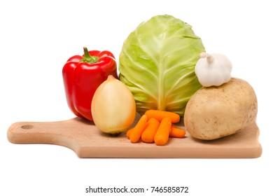 Set of vegetables isolated on white background isolation