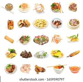 Ensemble de la collection de cuisine vietnamienne