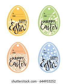 Set vintage easter gift tags happy stock vector 620209547 shutterstock set of vintage easter gift tags happy easter lettering caption zentangle holiday design for negle Choice Image