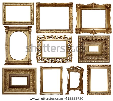 Set Vintage Frame Soft Oil Painting Stock Photo (Edit Now) 415553920 ...