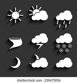 Set of weather icon infographics figures