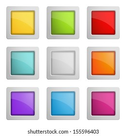 set of web buttons or frames (raster version of the vector)