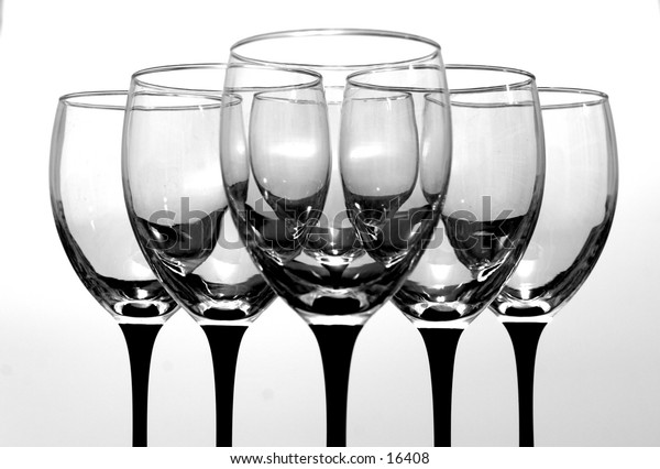 Set of wine glasses.  If you would like different color tinted glasses, email me.