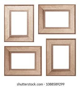 Set of wooden photo frames
