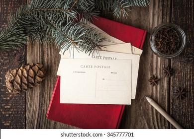 Set for writing Christmas wishes horizontal
