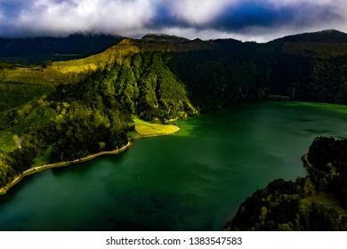 Sete Cidades - Azores from above