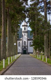 Sete Cidades Church, Island of Sao Miguel, Archipelago of the Azores, Portugal, Europe