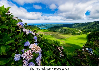 Sete Cidades lanscapes in Sao Miguel, Azores