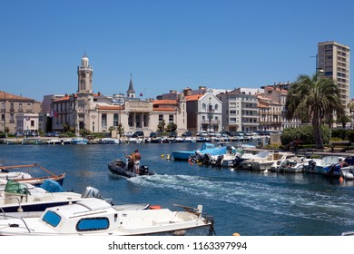 Sete. France. 06.17.12. Sete in the Languedoc-Roussillon region of the South of France. Sete is a port and a seaside resort on the Mediterranean Sea with its own very strong cultural identity.
