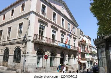 SETE, FRANCE - JULY 23, 2018: City Hall building of Sete. France.