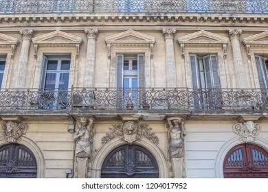 SETE, FRANCE - JULY 23, 2018: Unique architecture in Sete. France.