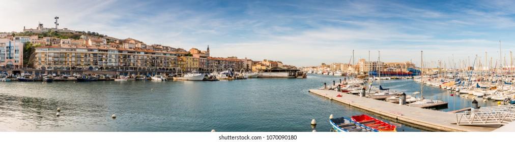 Sete harbor in Sete, Occitania in France