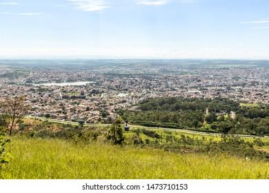 Sete Lagoas/Minas Gerais/Brazil - JUL 10 2015: Partial view of the city of Sete Lagoas