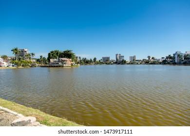 Sete Lagoas/Minas Gerais/Brazil - JUL 10 2015: Partial view Lake in Sete Lagoas City