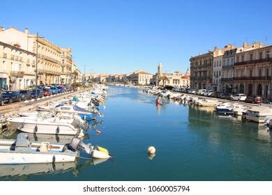Sete, a seaside resort and singular island in the Mediterranean sea, it is named the Venice of Languedoc Rousillon, France