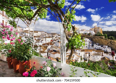 Setenil de las Bodegas village, one of the beautiful white villages (Pueblos Blancos) of Andalusia, Spain