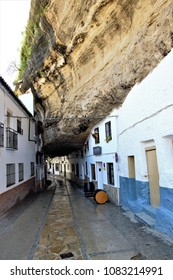 Setenil, town with the houses tucked into the rock, route of the white villages in Cádiz, Andalusia, Spain,