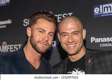 """Seth Gamble, Xander Corvus attend 19th Annual Horror Film Festival - Screamfest - """"Rabid"""" Los Angeles Premiere - Arrivals at TCL Chinese Theatre, Hollywood, CA on October 16, 2019"""