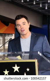 Seth MacFarlane at Adam West's Star on the Hollywood Walk of Fame Ceremony, Hollywood, CA 04-05-12