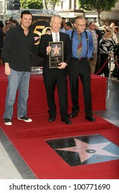 Seth MacFarlane, Bill Maher and Larry King at the induction ceremony for Bill Maher into the Hollywood Walk of Fame, Hollywood, CA. 09-14-10