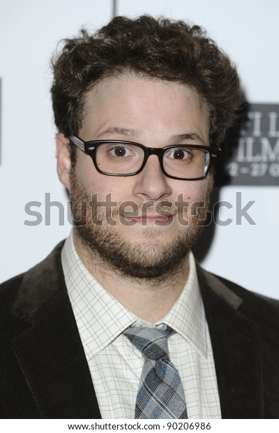 Seth Rogan attends the screening of 50/50 at The 55th BFI London Film Festival at Vue West End, London. 13/10/2011 Picture by: Steve Vas / Featureflash