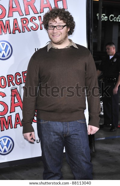 """Seth Rogen at world premiere of """"Forgetting Sarah Marshall"""" at Grauman's Chinese Theatre, Hollywood. April 10, 2008  Los Angeles, CA Picture: Paul Smith / Featureflash"""