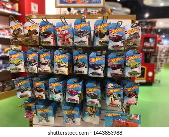 SETIA ALAM, MALAYSIA - JULY 2, 2019: Hotwheels toys logo on display at Toys 'r us. Hotwheels is a product of Mattel, with factories located in Penang, Malaysia and Thailand.