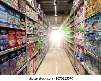 SETIA ALAM, SELANGOR - 2th Feb 2018 : Various hallways of food and products within the supermarket.