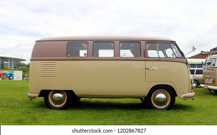 Setia Alam, Selangor, Malaysia - October 14, 2018 : The first generation of the Volkswagen Type 2 , informally called the Microbus, displayed  during Volkswagen Festival 2018 in Setia Alam, Selangor.