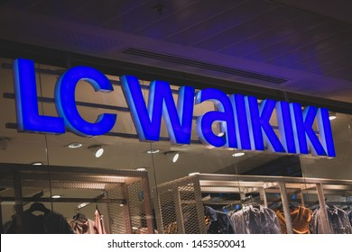 "Setif, Algeria - 07-07-2019: LC WAIKIKI clothing shop in Setif Mall ""Four points"""