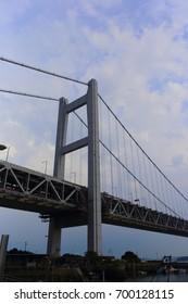 Seto big bridge in Japan