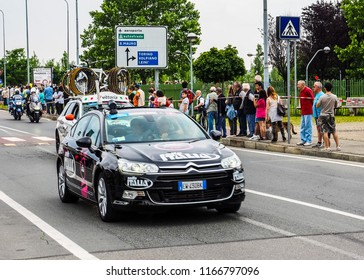 SETTIMO TORINESE, ITALY - CIRCA MAY 2015: Giro di Italia meaning Tour of Italy bycicle race