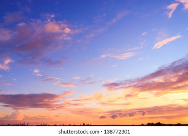 Setting Sun Bright Horizon