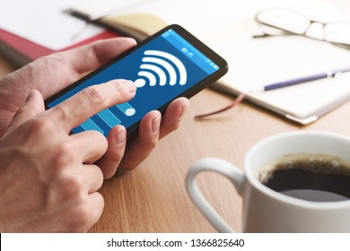 Setting wifi of smart phone.