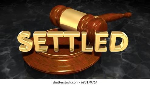 Settled Law Concept 3D Illustration