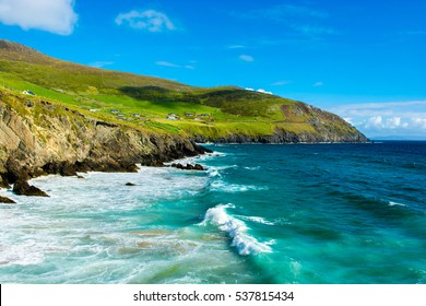 Settlement at the Coast of Slea Head in Ireland