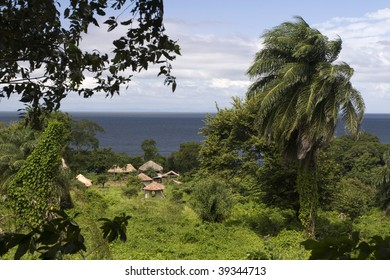 Settlement on Isla Ometepe in Nicaragua